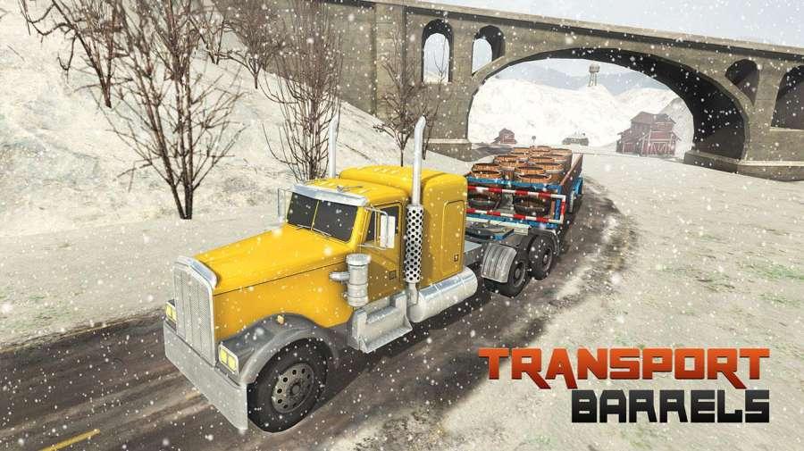越野雪卡车司机3D截图0