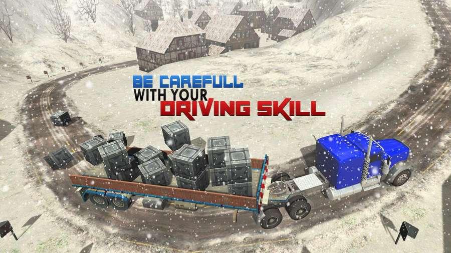越野雪卡车司机3D截图2