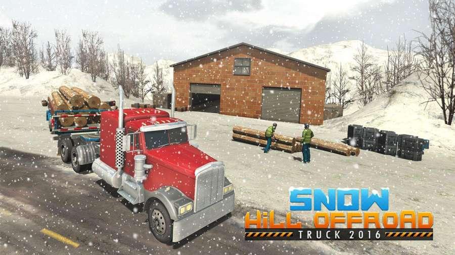 越野雪卡车司机3D截图3