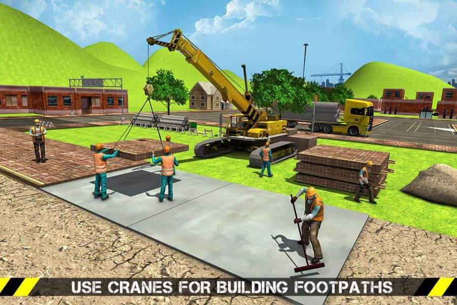 城市道路生成器施工挖掘机模拟器截图1