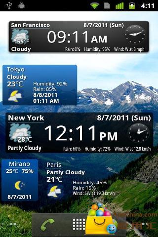 世界天气时钟插件截图2