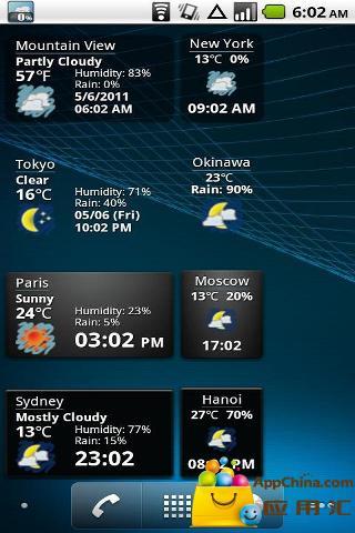 世界天气时钟插件截图3