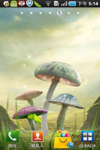 魔幻蘑菇动态壁纸