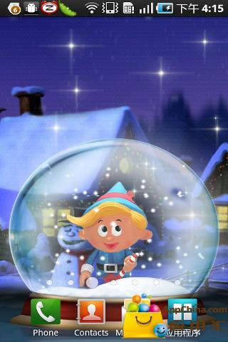 圣诞水晶球动态壁纸
