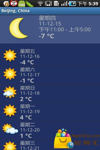 快速天气预报