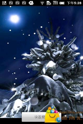 圣诞飘雪动态壁纸