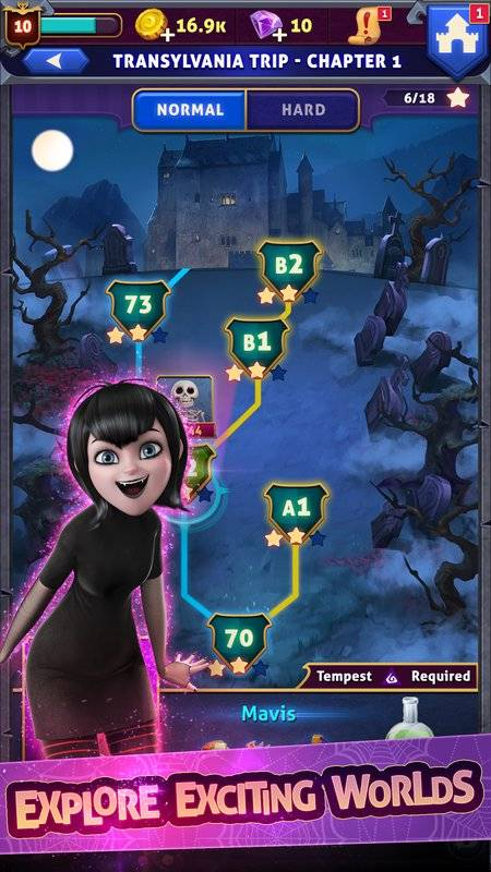 Hotel Transylvania: Monsters! - Puzzle Action Game截图1