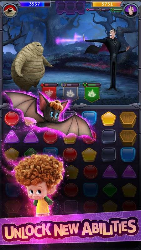 Hotel Transylvania: Monsters! - Puzzle Action Game截图2