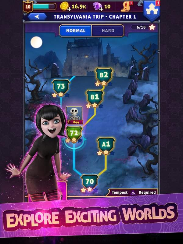 Hotel Transylvania: Monsters! - Puzzle Action Game截图4