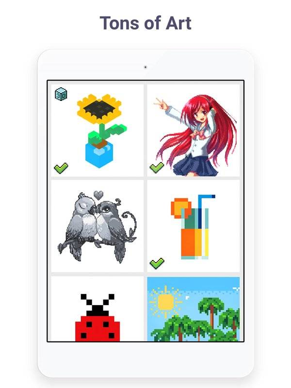Pixel Art: Build by Number Game截图7