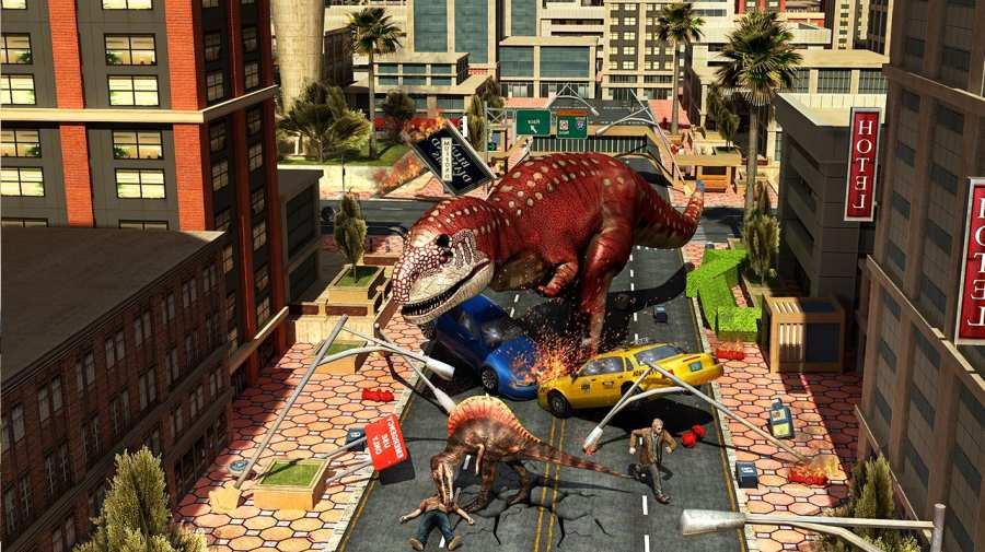 恐龙城市横冲直撞狩猎3D世界模拟器2018年