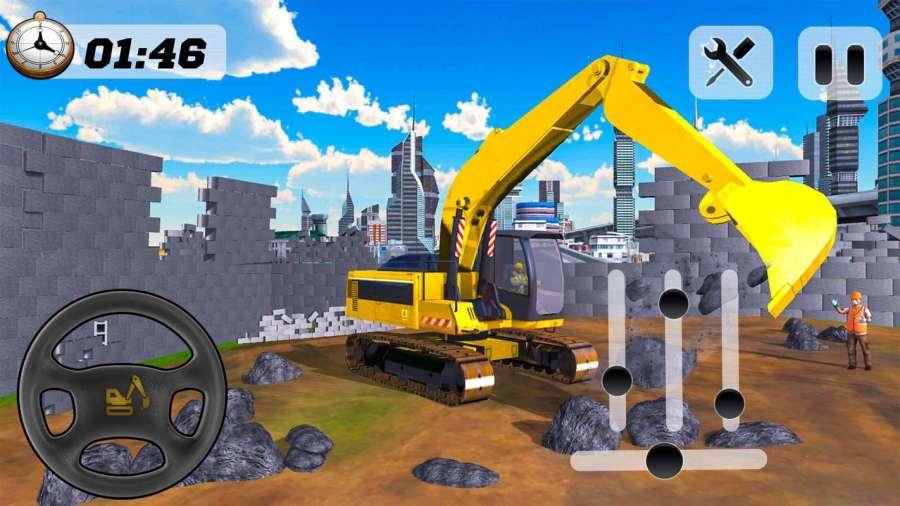 建筑重型挖掘机模拟器2018年截图0