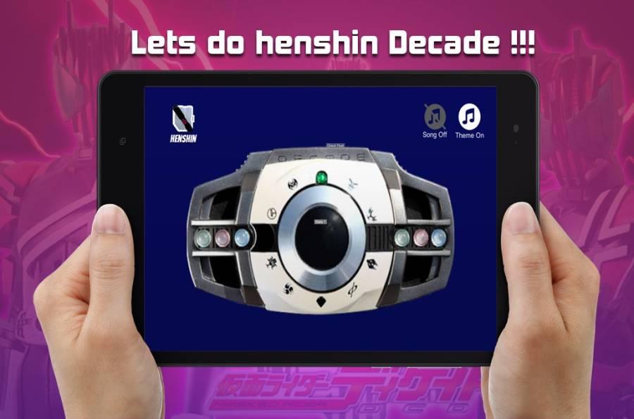 用于假面和骑手十年的DX henshin腰带截图1