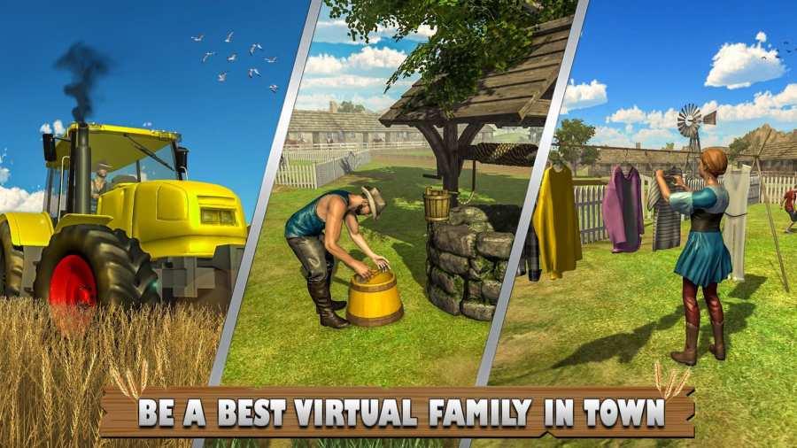 虚拟农场:家庭娱乐农业游戏