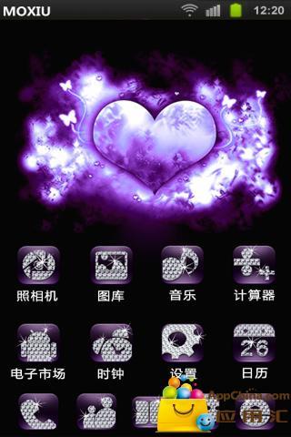 紫色爱恋桌面主题—魔秀|玩工具App免費|玩APPs