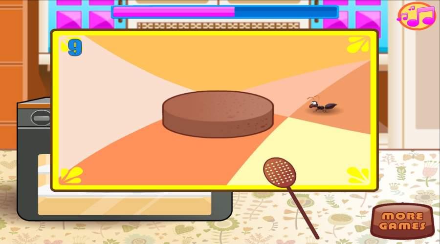 烘焙和烹饪巧克力蛋糕:女孩乐趣面包店