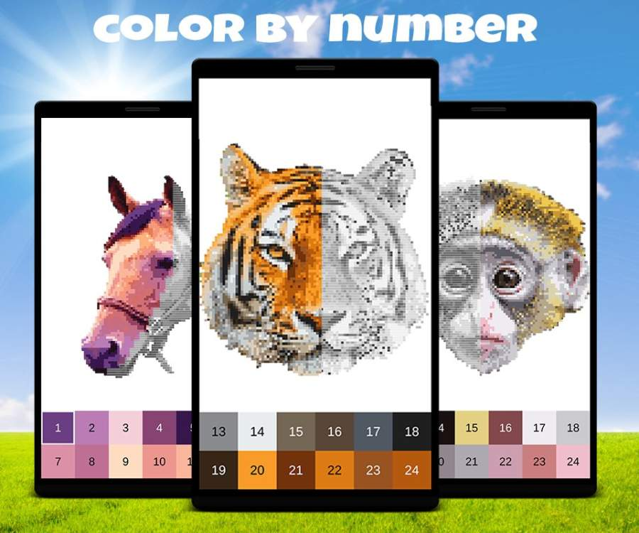 Animals Color by Number: Animal Pixel Art截图1