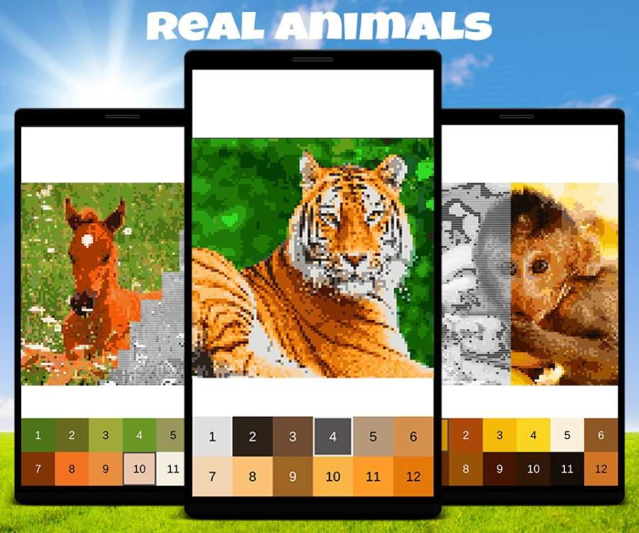 Animals Color by Number: Animal Pixel Art截图2