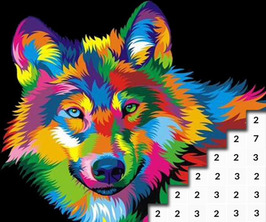 Animals Color by Number: Animal Pixel Art截图3