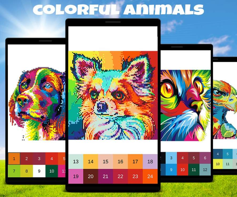 Animals Color by Number: Animal Pixel Art截图5