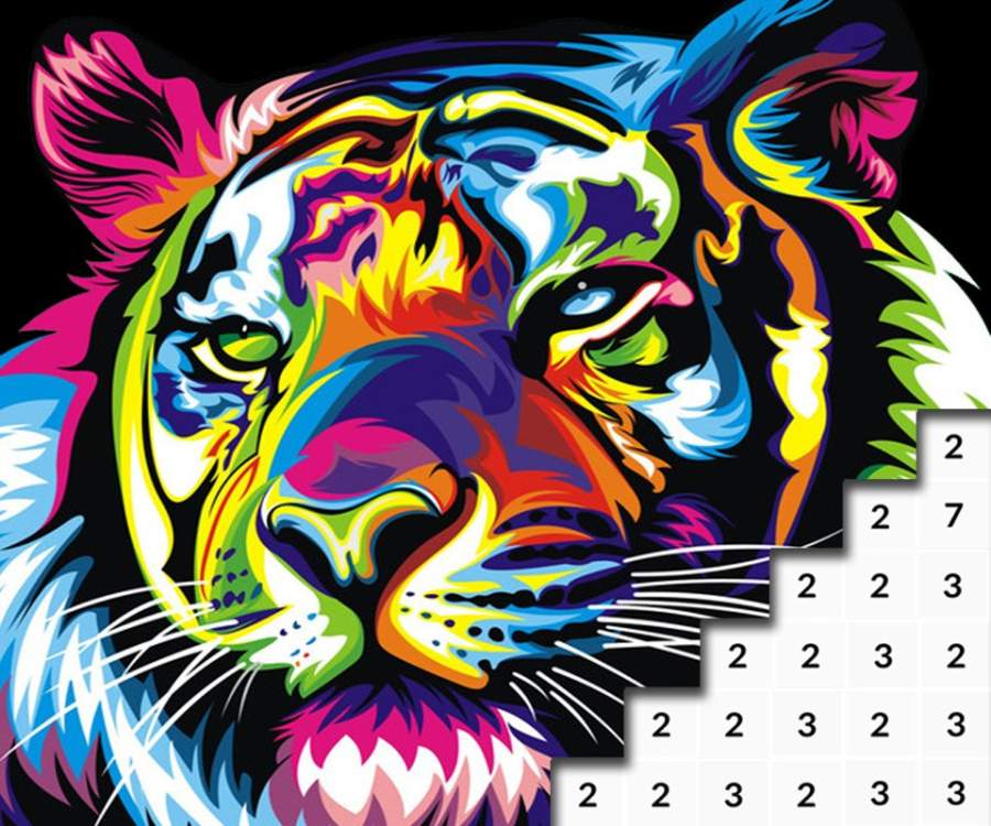 Animals Color by Number: Animal Pixel Art截图6