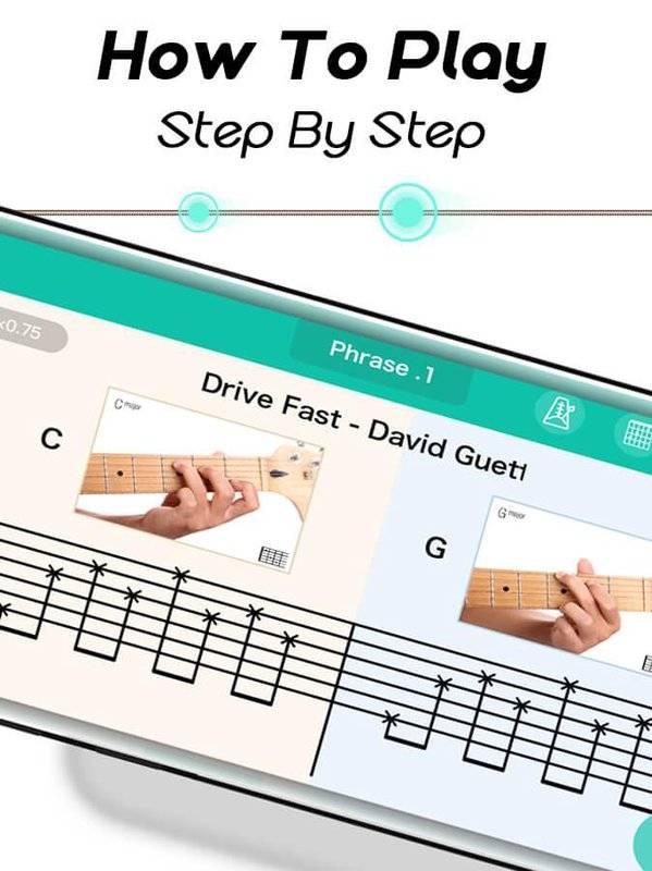 Real Guitar for Free-Rhythm Game & Chords & Tiles截图1