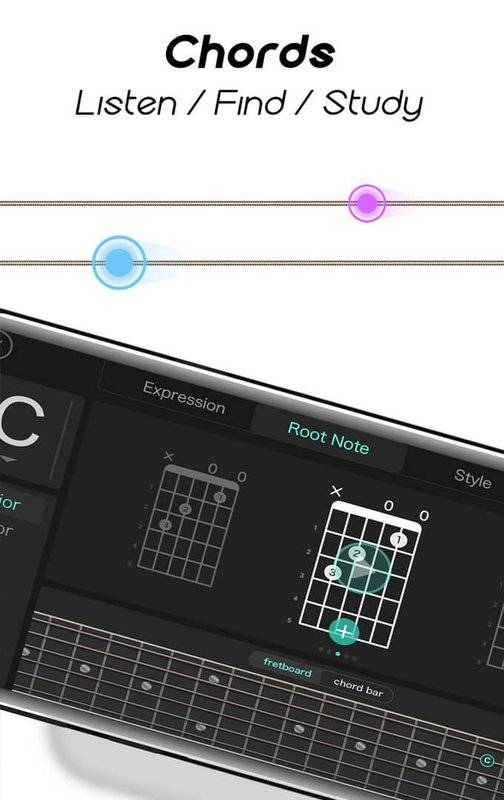 Real Guitar for Free-Rhythm Game & Chords & Tiles截图4