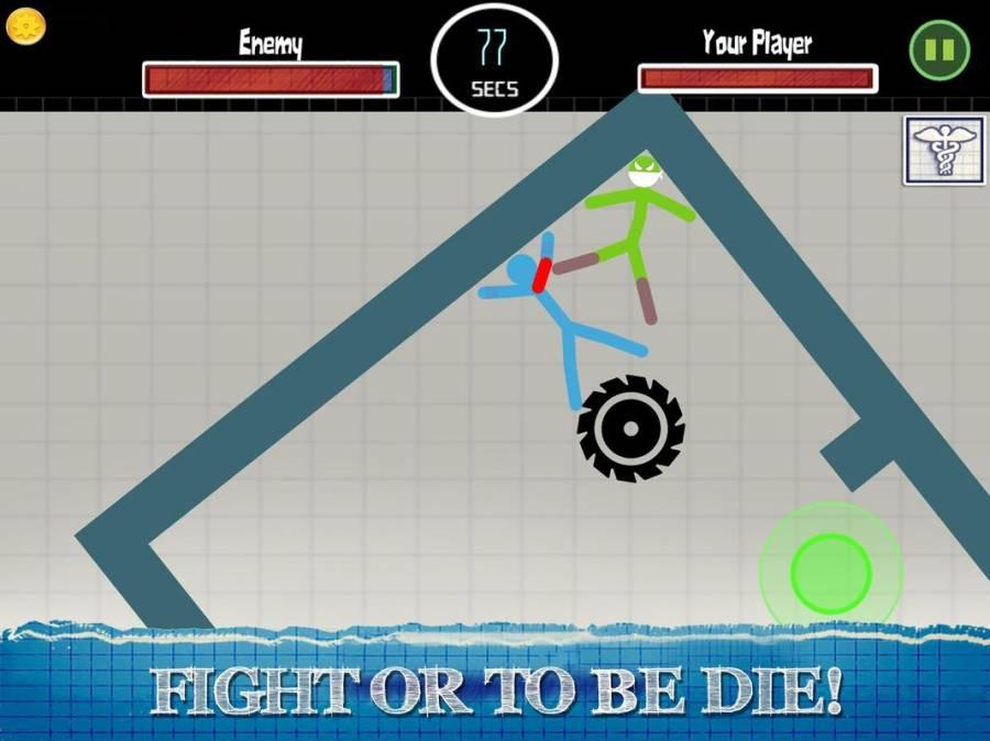 火柴人格斗游戏 - 2人战士游戏截图2