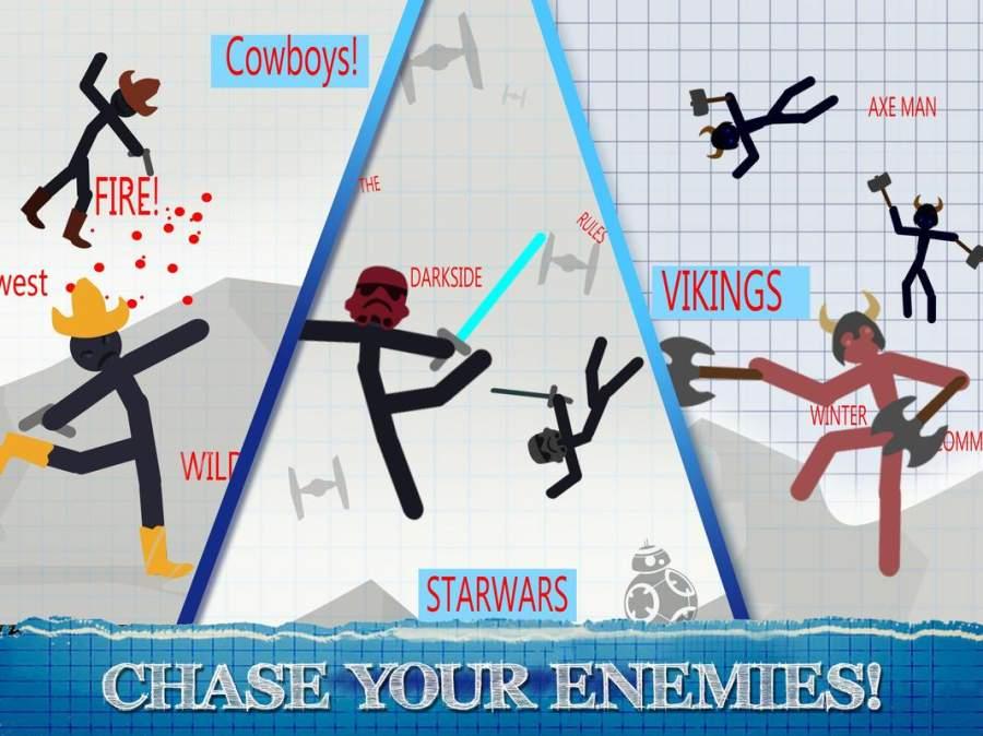 火柴人格斗游戏 - 2人战士游戏截图3