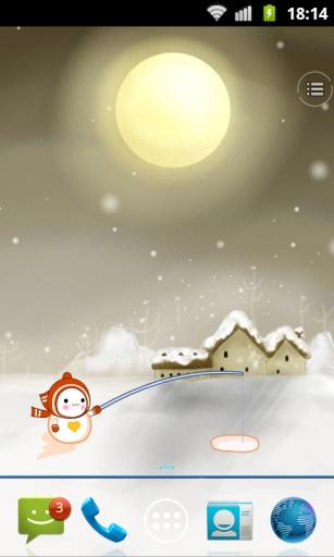 动感雪人动态壁纸