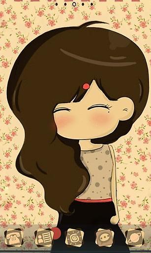 爱笑的长发女孩