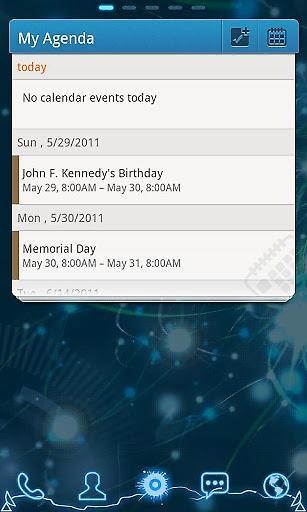GO桌面日历小部件截图1