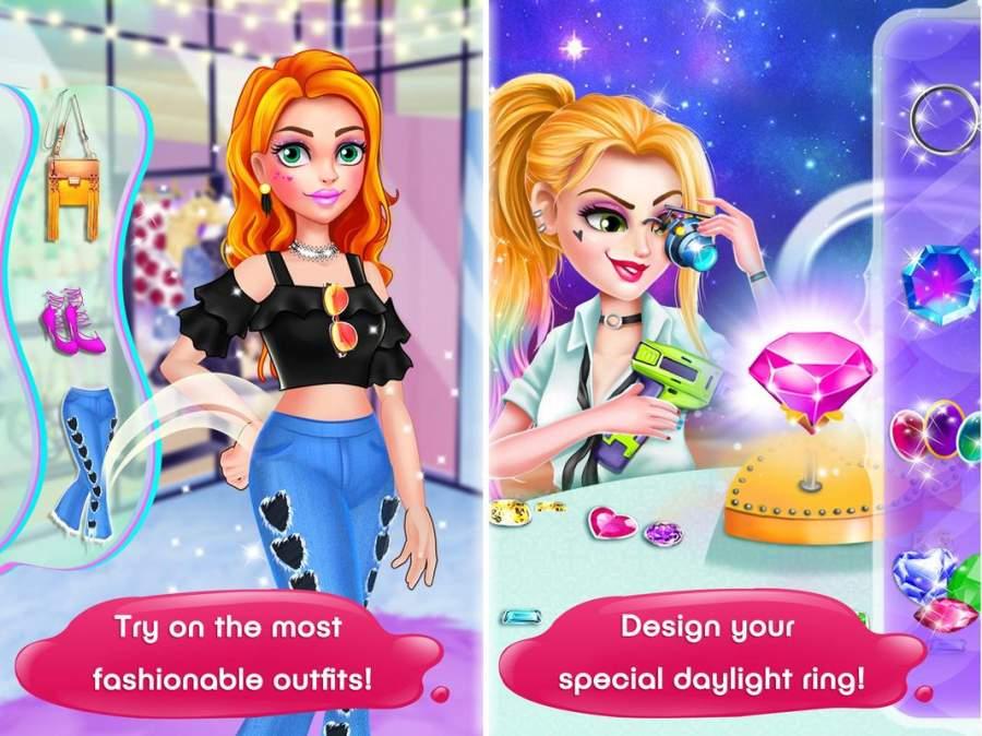 女生游戏:女生们的打扮,化妆,换装沙龙游戏截图1