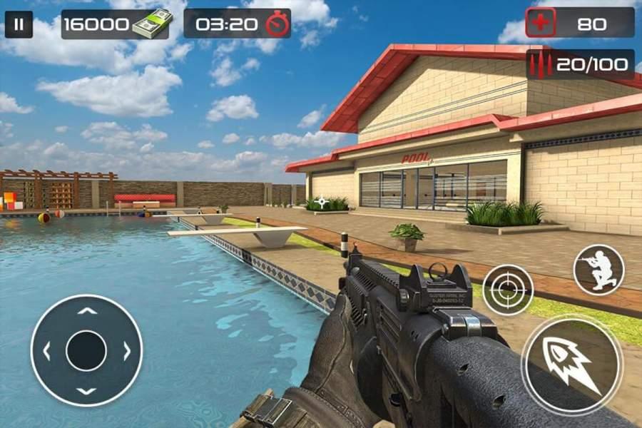 反恐怖射击游戏 - 枪射击截图1