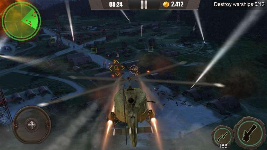 皇牌突袭:武装直升机截图1