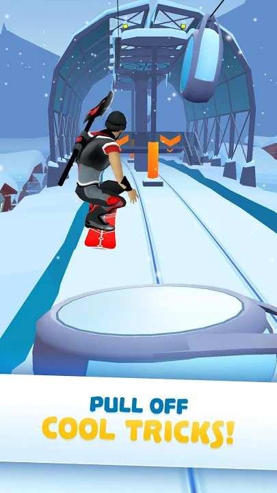 滑雪竞速登山赛