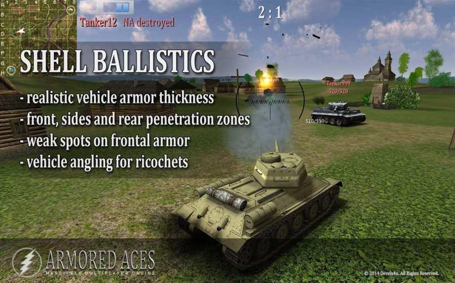 装甲王牌- 3D坦克在线截图4