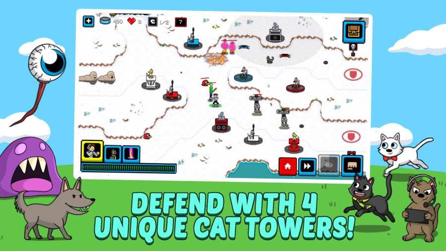 猫的塔防截图3