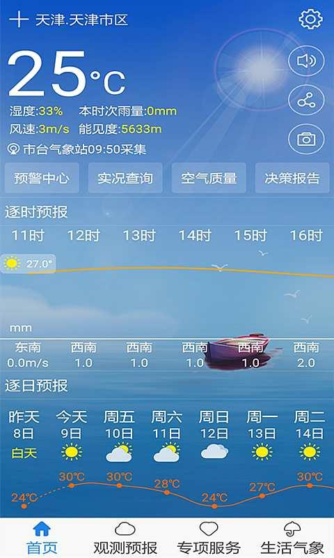 天津气象截图0