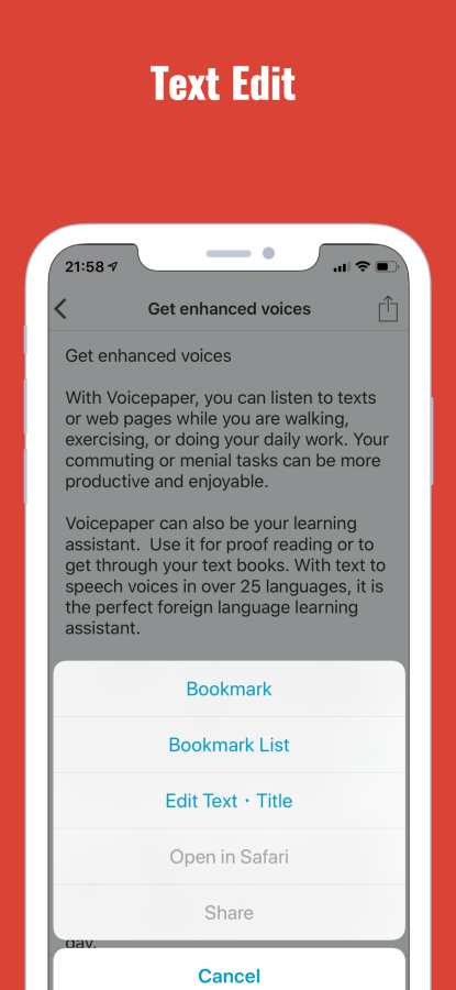 Text to Speech Voicepaper 2截图1