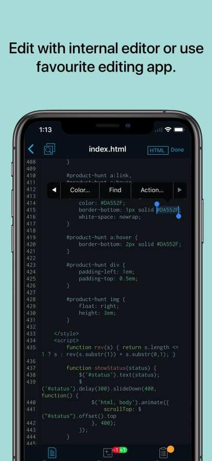 Working Copy - Git client截圖1