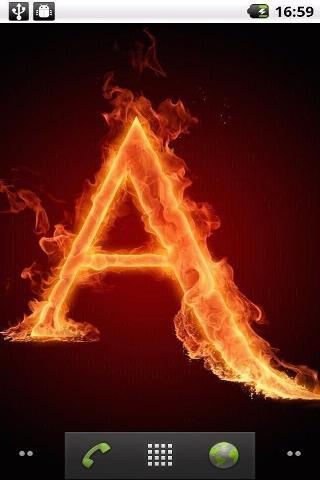 火焰字母动态壁纸