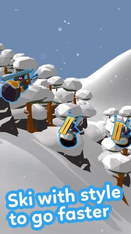 滑雪大冒险3D截图0