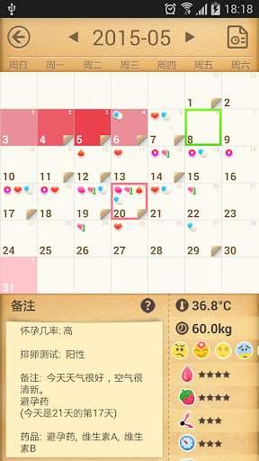 女性生理期 - 免费生理期/受孕/排卵日预测截图0