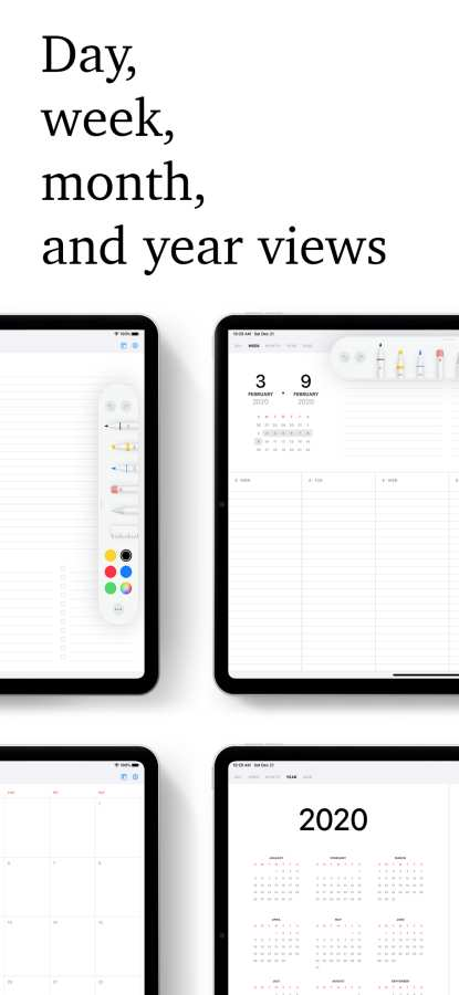 Pencil Planner & Draw Calendar截图1