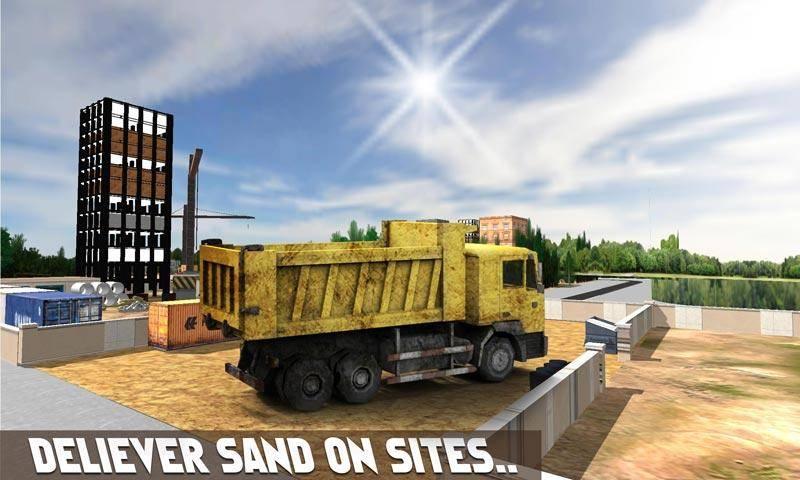 砂挖掘机模拟器3D截图1