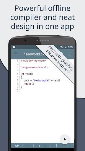 Cxxdroid - C++ compiler IDE for mobile devel截图0