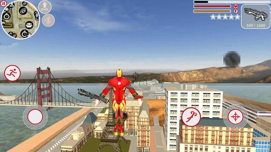 超级钢铁侠绳索英雄截图1