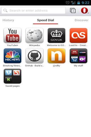 Opera 浏览器 beta