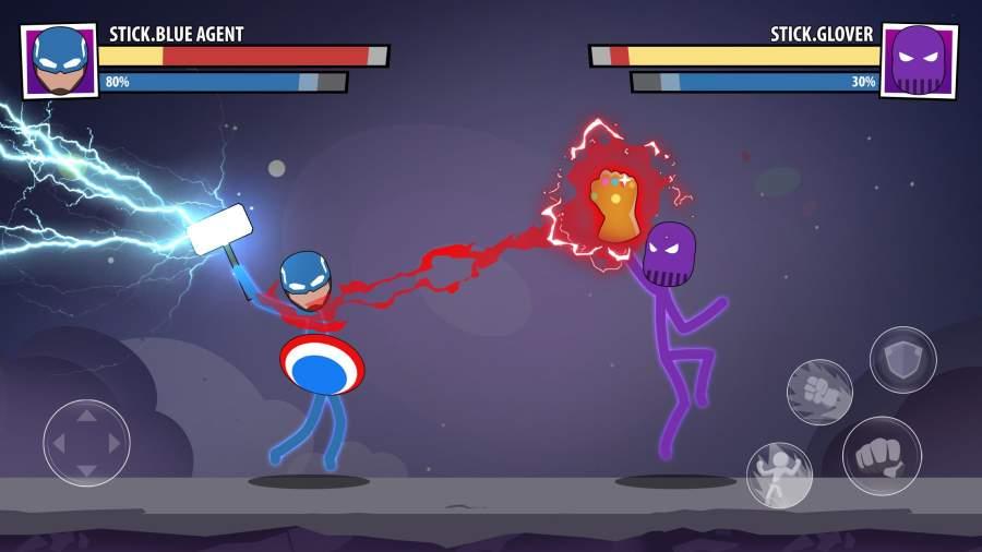 火柴人面具:超级英雄截图1